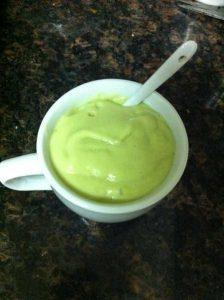 low carb avocado milkshake
