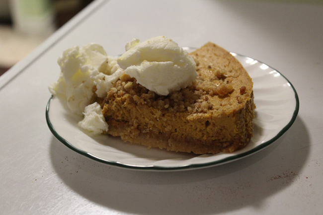 Keto Pumpkin Pie Recipe with Ice Cream